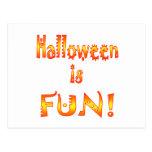 Halloween es diversión postal