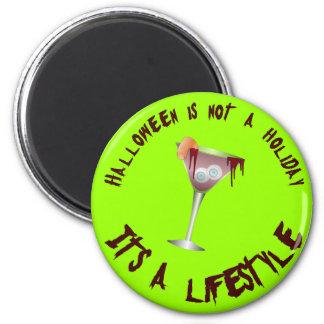 Halloween es un botón de la forma de vida imán redondo 5 cm