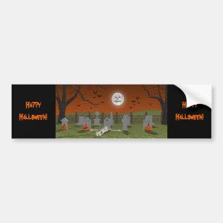 Halloween: Escena del cementerio: Etiqueta De Parachoque