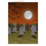 Halloween: Escena del cementerio: Felicitaciones