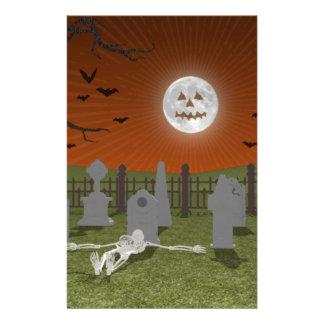 Halloween: Escena del cementerio: Papeleria