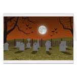 Halloween: Escena del cementerio: Tarjeta