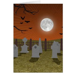 Halloween: Escena del cementerio: Tarjeta De Felicitación
