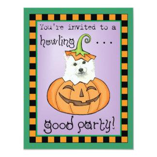 """Halloween Eskie Invitación 4.25"""" X 5.5"""""""