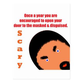Halloween espantoso tarjetas postales