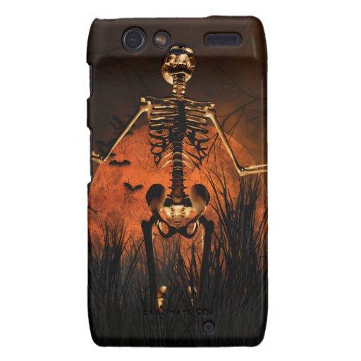 Halloween, esqueleto asustadizo droid RAZR carcasas