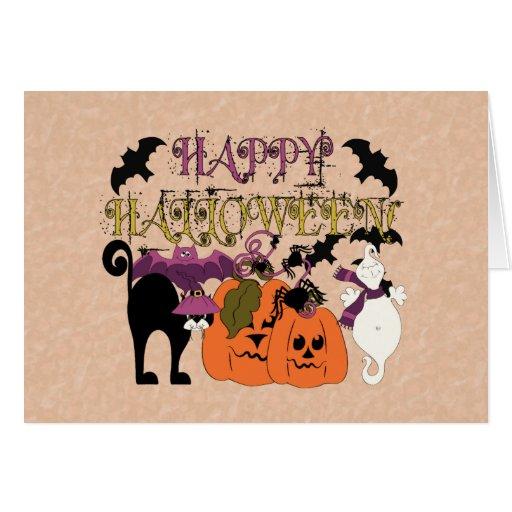 Halloween está aquí tarjeta de felicitación