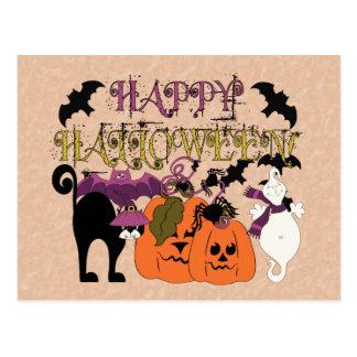 Halloween está aquí tarjeta postal
