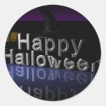 Halloween Etiqueta Redonda
