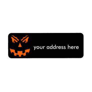 Halloween Etiquetas De Remite