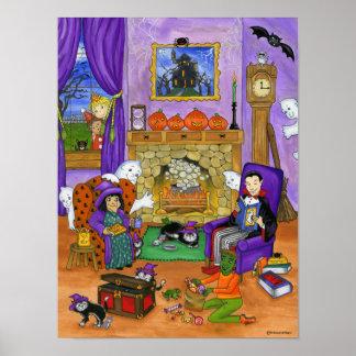 Halloween Eve. Halloween Poster for kids.
