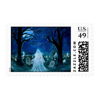 Halloween everyday,postage,stamps,ghost postage