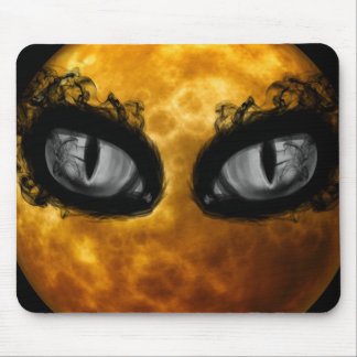 Halloween evil eyes mouse pad