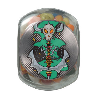 Halloween Evil Monster Axe Jelly Belly Candy Jar