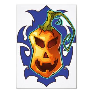 Halloween Evil Scary Pumpkin Card