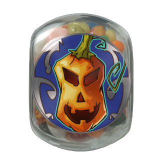 Halloween Evil Scary Pumpkin Jelly Belly Candy Jars
