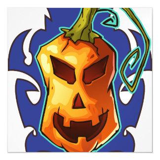 Halloween Evil Scary Pumpkin Magnetic Card