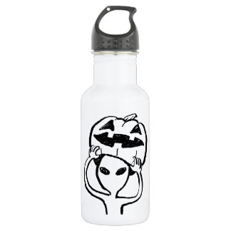 < Halloween extraterrestrial (black) >Halloween Al Stainless Steel Water Bottle