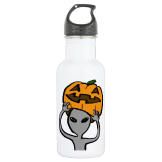 < Halloween extraterrestrial (both sides) Stainless Steel Water Bottle
