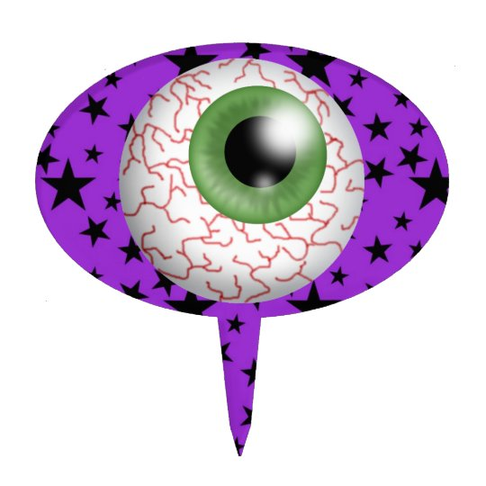 Halloween Eyeball Cake Pick - SRF
