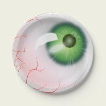 Halloween Eyeball Paper Plate