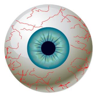 Halloween Eyeball Party Invitation (Blue)