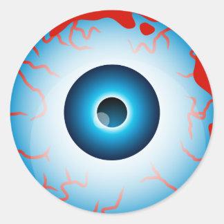 Halloween Eyeball Round Sticker