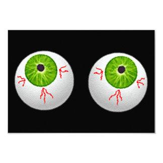 Halloween Eyeballs 3.5x5 Paper Invitation Card