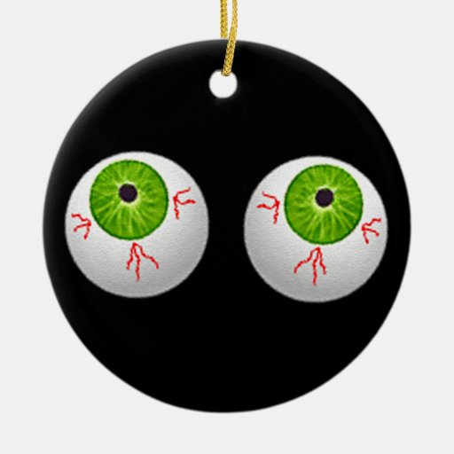 Halloween Eyeballs Ceramic Ornament