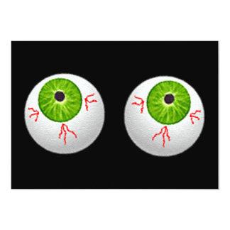 "Halloween Eyeballs 5"" X 7"" Invitation Card"