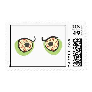 Halloween eyeballs stamp