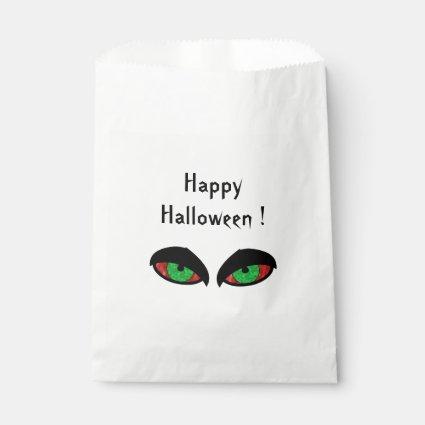 Halloween Eyes Favor Bag