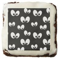 Halloween Eyes Pattern Brownies Square Brownie