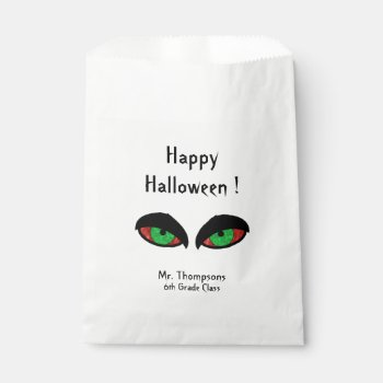 Halloween Eyes School Favor Bag