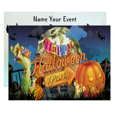 Halloween Themed Halloween Fabulous Vector Art Party Invitation