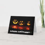 halloween face card