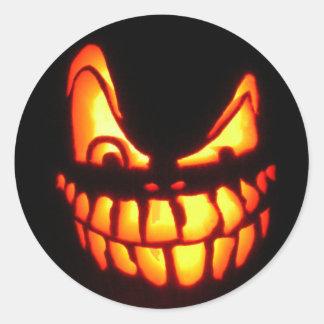 halloween face classic round sticker