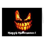 halloween face greeting card