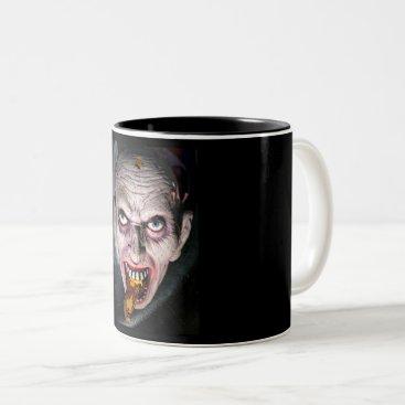 Halloween Face in a Cauldron Two-Tone Coffee Mug