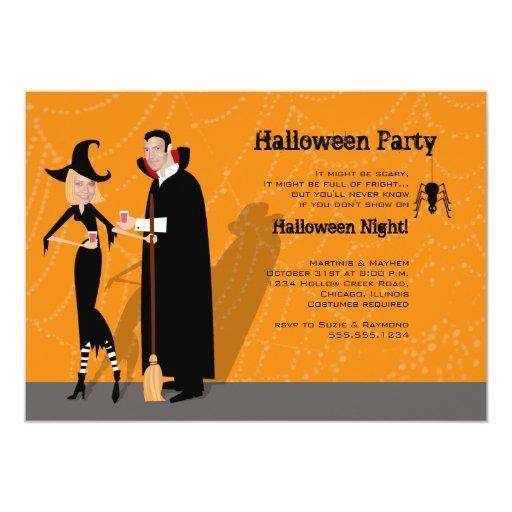 "Halloween ""Face in Hole"" Invitation"