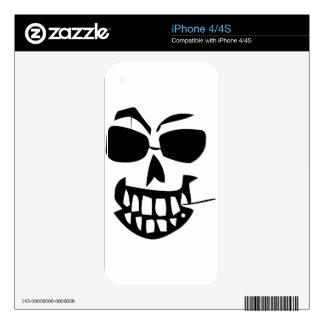 halloween-face toothpick iPhone 4 skins