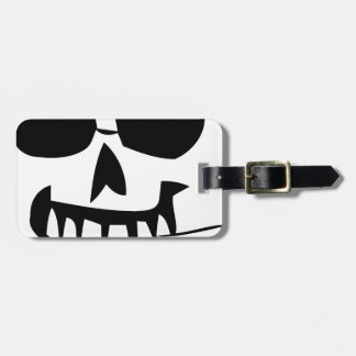 halloween-face toothpick luggage tag