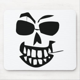 halloween-face toothpick mouse pad