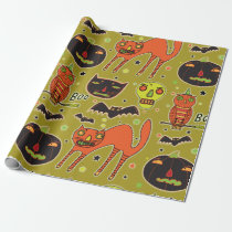 Halloween Faceoff Wrapping Paper