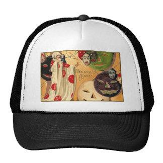 Halloween Faces - Art Deco Trucker Hats
