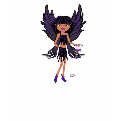 her wings are shaped like bird