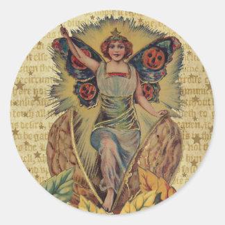 Halloween Fairy Classic Round Sticker