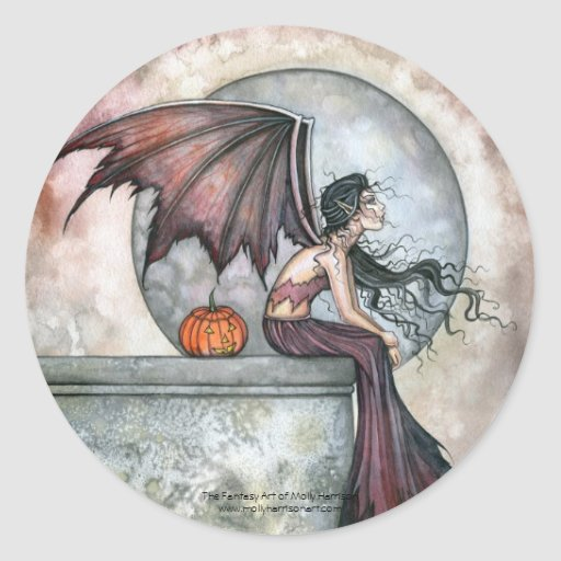 Halloween Fairy Gothic Stickers by Molly Harrison