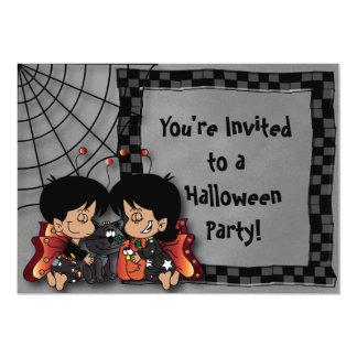 Halloween Fairy Kids Party Card