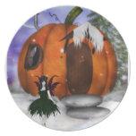 Halloween Fairy  Plate